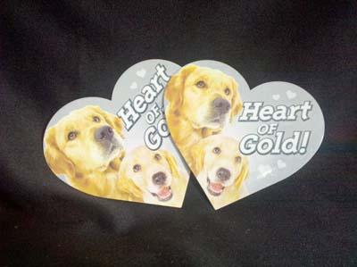 heart of gold magnet heart delaware valley golden retriever rescue