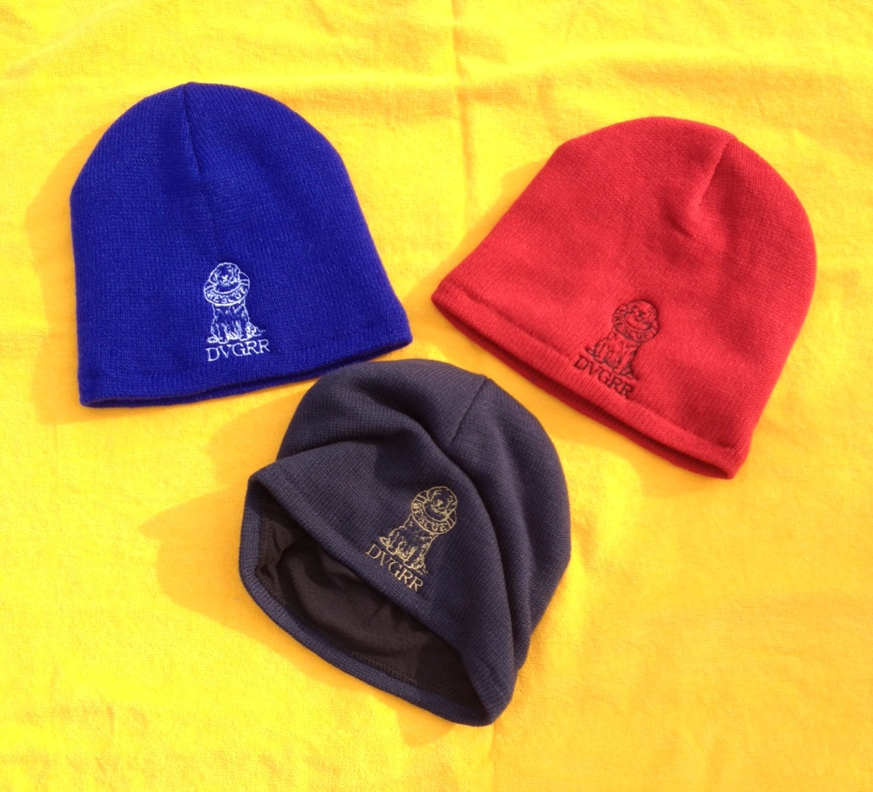 beanie knit scull maggie logo delaware valley golden