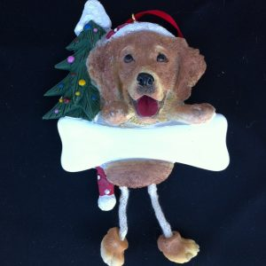 Golden Retriever dangling leg Ornament
