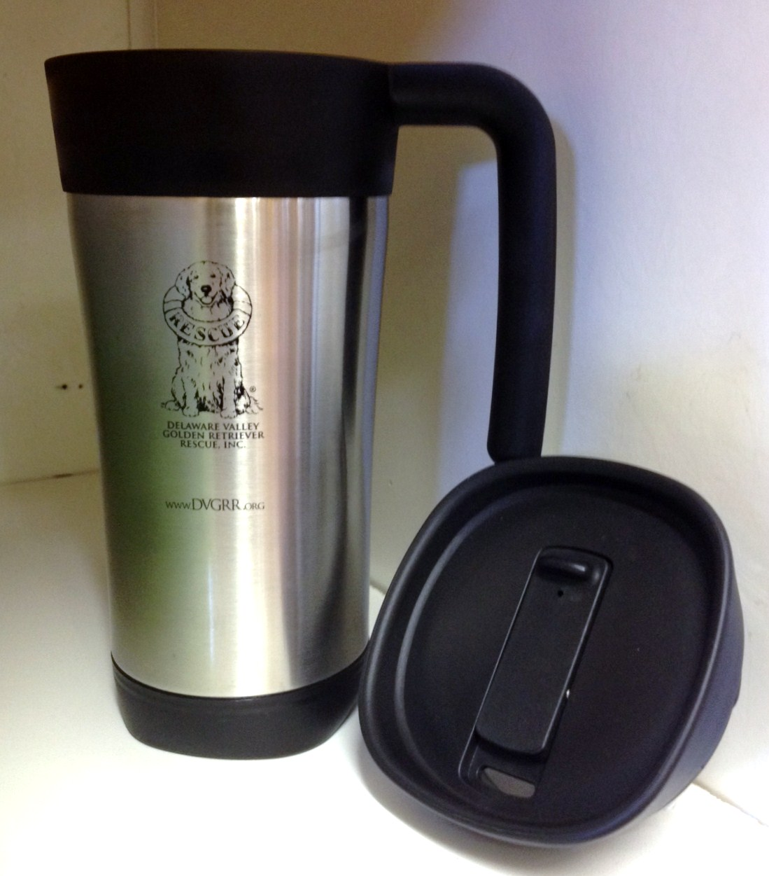 dvgrr travel mug delaware valley golden retriever rescue