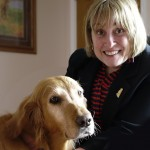 Joan Puglia, GRSRS&EC President with Theresa (Theresa was GRSRS&EC's second sponsored senior who found her forever home after being at the Sanctuary for a few weeks!)