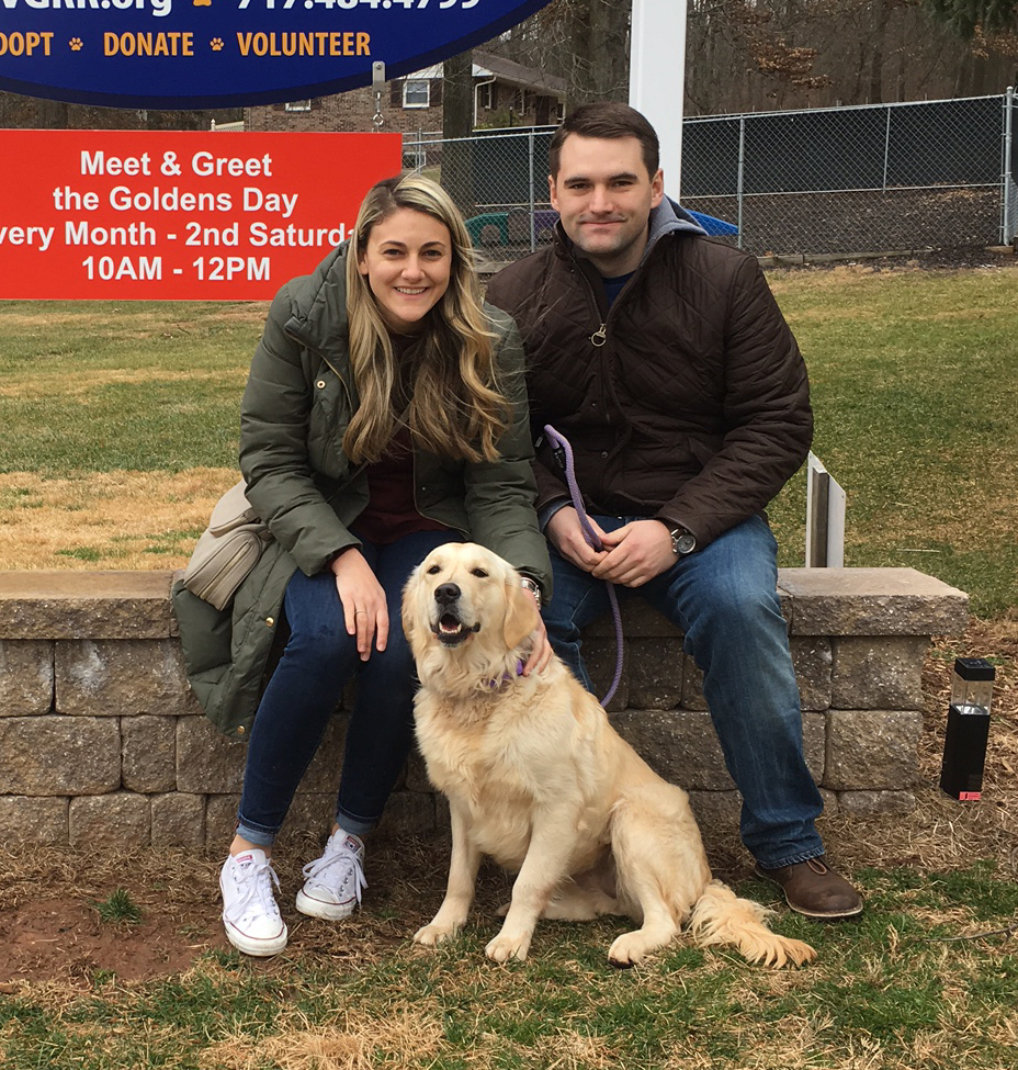 Bianca goes home Jan 2017b - Delaware Valley Golden Retriever Rescue