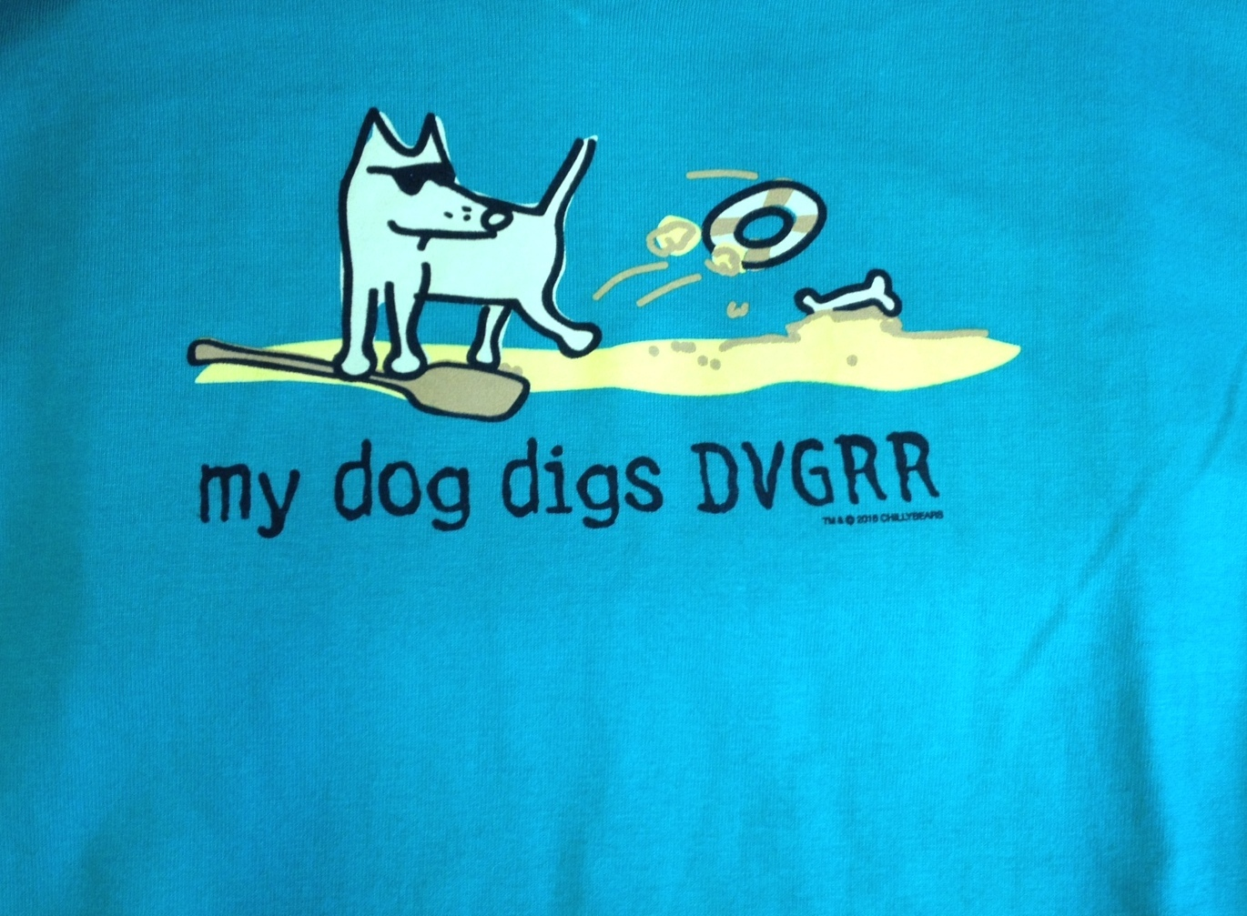 ladies teddy the dog 34 sleeve tshirt delaware valley