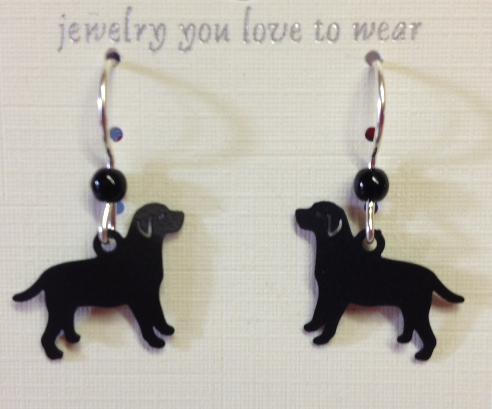 Black Lab Earrings
