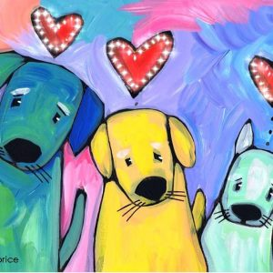 3Dog Lovepaint party